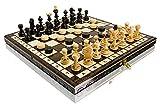 35.6cm Perla In legno Set di scacchi e dama 35cm x 35cm