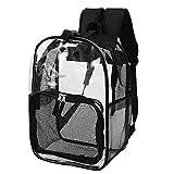Hunderucksack Hunde Rucksäcke Atmungsaktiv Netzfenster Tragetasche Katzentransport Transportbox Rucksack Haustierrucksack für Keine Haustier Hunde Welpen Katzen bis 5 kg Outdoor-Reise Transparent