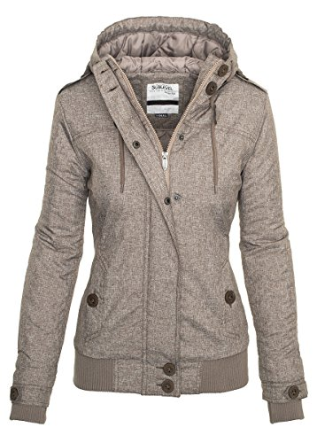 Sublevel Damen Herbst Winter Jacke Parka Mantel Winterjacke Outdoor B259 Braun