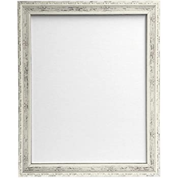 FRAMES BY POST Shabby Chic Picture Photo Frame, Distressed White, 50 ...