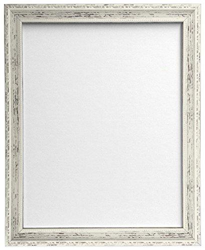 Frames by Post AP-3025 - Marco para Foto o lámina, Blanco con Acabado Envejecido, tamaño DIN A4