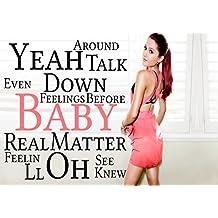 Ariana Grande–Baby I 4–Pop Star Superstar Singer Sexy Lady mejor foto de color de imagen única Impresión A3Póster Laminado