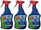 Bayer Blattanex Ungeziefer & Ameisen Spezial Pump-Spray Gardopia Sparpakete + Zeckenzange mit Lupe (3 x 1 Liter)