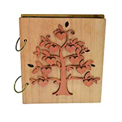 Idea Regalo - Giftgarden Album Photo 10x15 con 120 Tasche in Pagine Nere - Albero Genealogico Album con Legno Design