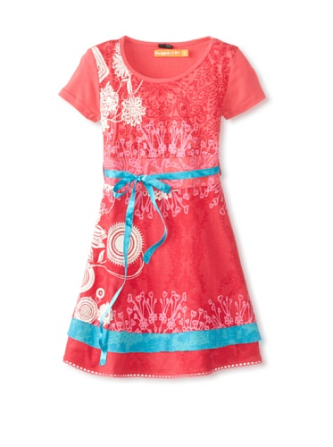 Robe Desigual Indio Rep 2/3 A 13/14 5/6 Couleurs Rouge