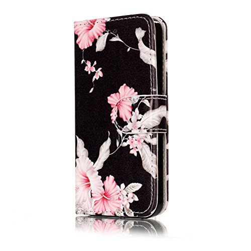 iPhone SE Hülle iPhone 5s Hülle iPhone 5 Hülle,Cozy Hut Case / Cover / Handyhülle für iPhone 5s / iPhone 5 / iPhone SE Schutzhülle, Kunstleder Ledertasche Schutzhülle Case Tasche,Bunte Drucken Muster  Azalee