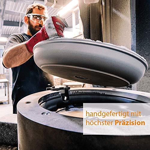 51HAva2YkqL - Eurolux Aluminium-Guss Grillplatte für INDUKTION (mit Seitengriffe) 41 x 24 x 2,5 cm in Premium Qualität (A Ware, Neueste Serie) 1 Monat Geldzurückgarantie! - Made in Germany - PFOA-Free