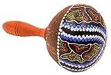 Maracas Noix de coco Artisanal Bois Carnaval Instrument Percussion Peint