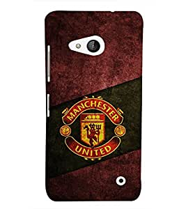 Takkloo cover with team name covers for football lovers, football inspiredteam sign) Printed Designer Back Case Cover for Microsoft Lumia 550