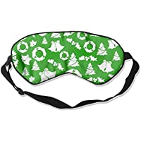 Eye Mask Eyeshade Christmas Green Background Sleep Mask Blindfold Eyepatch Adjustable Head Strap preisvergleich bei billige-tabletten.eu