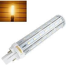 Bonlux 13W G24 LED PLC lámpara blanca 2800K 360 grados universal G24D 2 pines G24q 4 pines LED Base de reequipamiento de la lámpara PL 30W CFL reemplazo caliente (Eliminar / de derivación del lastre)