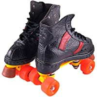 ZCRFY Patines En Línea Patines De Doble Fila Patines De Cuatro Ruedas Zapatillas De Skate para Adultos Patinaje para Patinaje Actividades Al Aire Libre,Black-35