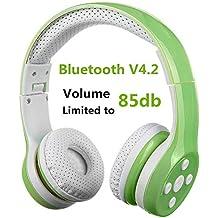 Auriculares Bluetooth para niños, Hisonic Auriculares Plegable para niños con Volumen Limitado Compatible con iPhone
