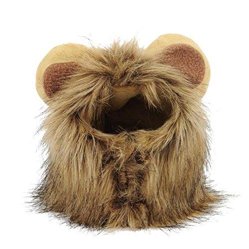 (Waroomss Pet Kostüm Löwe, Mähne Perücke für Katze Weihnachten Xmas Santa Halloween Kleidung Festival Fancy Dress up)