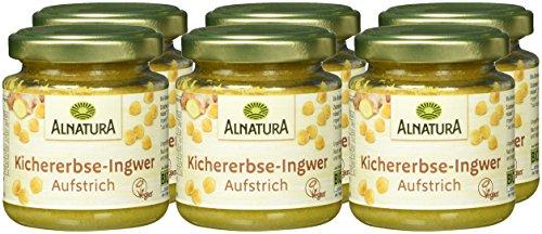Alnatura Bio Brotaufstrich Kichererbse mit Ingwer, vegan, 6er Pack (6 x 120 g) - 2