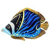 BAONZEN Cartoon 3D Simulation unterwasserwelt Ozean tropischen Fisch umarmen Kissen Kissen plüschtier Puppe Geburtstagsgeschenk, (blau gestreiften Fisch),