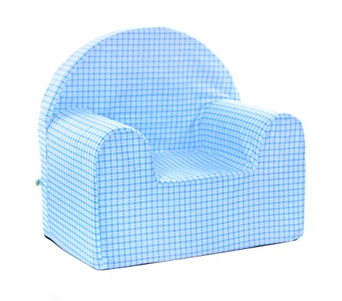 Babyblume Polstermöbel Sitzgruppe Kindermöbel Pikolo in verschiedenen Farben (Blau Kariert) - 4