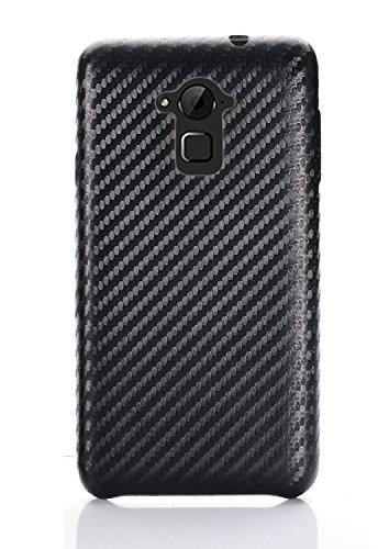 Tarkan Carbon Kevlar Style Slim Leather Protective Back Case For Coolpad Dazen Note 3 (Black)
