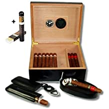 Black Finish Humidor-Set V- 200 + Habanos Specialist Set