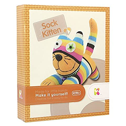 Keycraft AC116 Make Your Own Sock Kitten Craft Kit