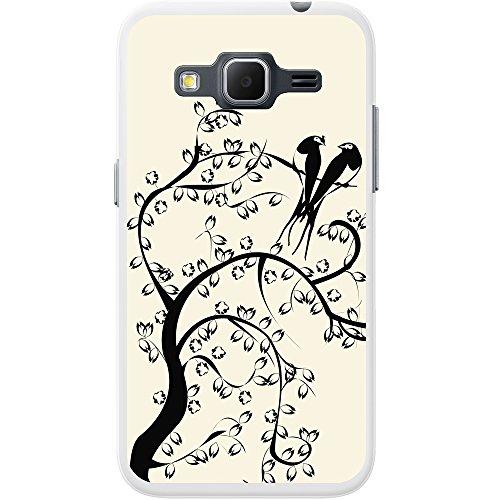 Paradiesvögel Silhouette - Pastellgelb Hartschalenhülle Telefonhülle zum Aufstecken für Apple iPhone 6 PLUS / 6s PLUS Pastellgelb