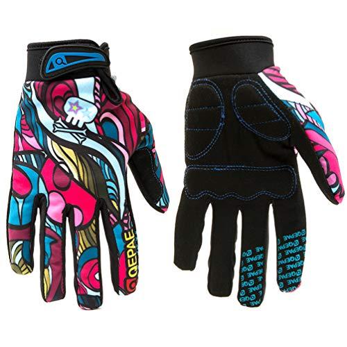 (Qianliuk Outdoor Radfahren Motorrad Handschuhe Vollfinger Winddicht Moto Motocross Handschuh Off-Road Motorrad Racing Protect Gloves)