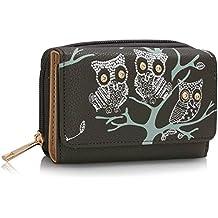 3b3c702c37375 LeahWard® Genuine Damen Geldbörse Eule Geldbörsen Brieftaschen nett Groß  Geldbörse Taschen