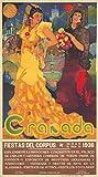 Granada Vintage Póster (artista: Reyes) España C. 1936, papel, multicolor, 24 x 36 Giclee Print