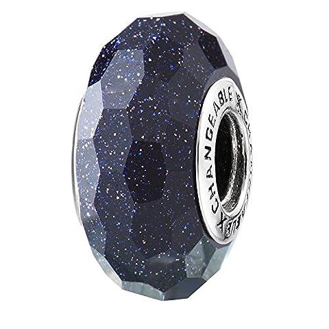 Charms Et Perles Pour Femme Charmes Individuels Beads Espaceurs Fille Argent 925/1000 Verre Plaqué Rouge Lumière Siam Pierre
