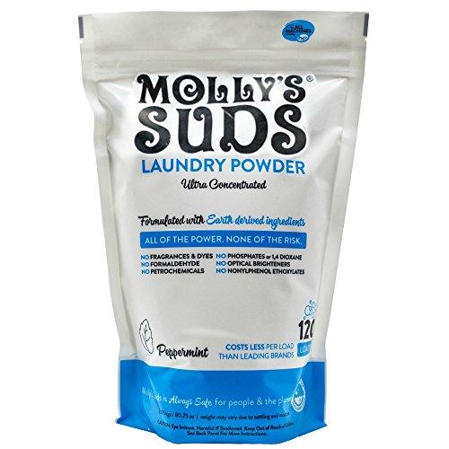 Molly's Suds Detergente en polvo para la colada, 120 cargas, jabón natural...