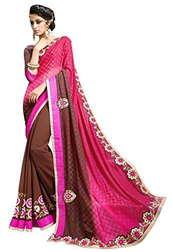 Manvaa Dual Shaded Self Jacquard Saree  available at amazon for Rs.860