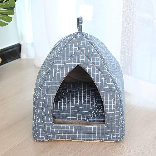 NIBESSER Katzenhöhle Katzenbett mit Super Weichem Flauschigem Innerkissen Abwaschbar Katzenzelt Katzenkorb zum Schlafen für Katze Hunde