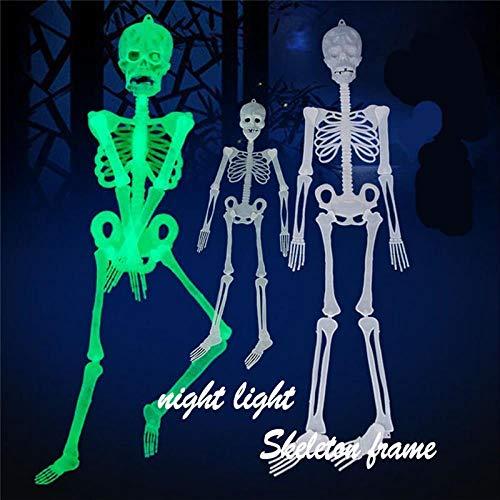 Körper Ballon Kostüm - SUNMM 30 cm Leuchtende Schädel Schädel Körper Beängstigend Halloween Spielzeug Spukhaus Tricks Requisiten Großhandel 25 Zoll Spielzeug, Weiß