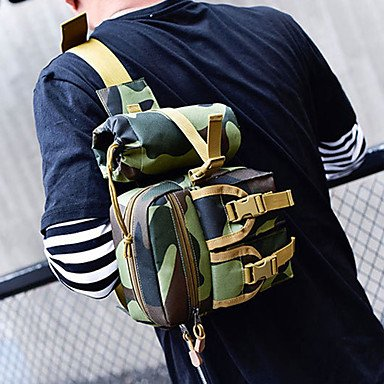 SUNNY KEY-Wanderrucksäcke@2 L vorne Rucksack Hüfttaschen Wandern Tagesrucksäcke Gürteltasche Brusttasche UmhängetaschenRennen Bergradfahren Camping & Wandern Für camouflage green