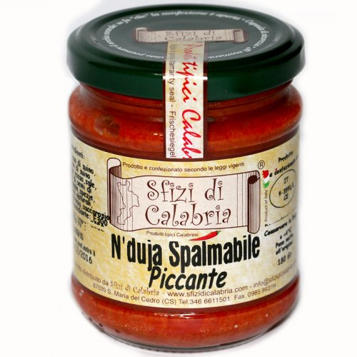 Nduja nduia in vaso 190gr salame calabrese spalmabile piccante