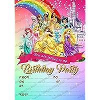 Design Buddies 15 XDisney Princess Birthday Party InvitationsDisney Invites X CARDS