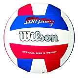 Wilson Team Sport WTH3509XB Ballon de Volleyball Mixte Adulte, Rouge/Jaune, Taille Unique