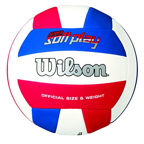 Wilson Super Soft Play - Pelota, color rojo / blanco / azul, talla única