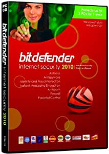 BitDefender Internet Security 2010 1 Year 3 Users (PC CD)