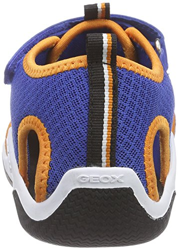 Geox Wader C, Sandales Bout Fermé Garçon Bleu (C0685)