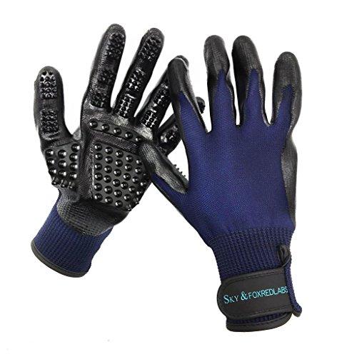 Großhandel-haar-bürste (Sky & foxredlabs Fellpflege Handschuh/Sanfte Haarentferner/Ninja/Handschuhe/Haar-Entferner/Bürste für Hunde, Katzen und Pferde)