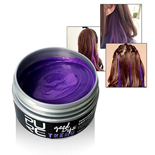äre Haare Färben Wachs, Einweg-Styling Hair Cream (lila) (Temporäre Lila Haare Farbe)