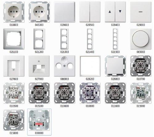 Preisvergleich Produktbild GIRA System 55 reinweiß glänzend, Schalter & Steckdosen