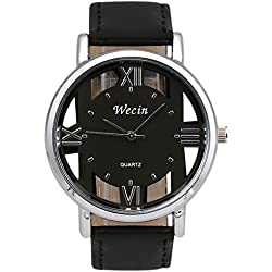 Kingko® Fashion Luxury Men's Women's Couples Leather Strap Analog Quartz Sports Wrist Watch Watches,Black