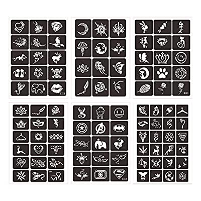 LAOZHOU Face Paint Stencils Kit, Large Medium Small Reusable, Thick Body Painting Stencil - Great for Birthdays, Fundraisers, Halloween, Christmas Party by LAOZHOU