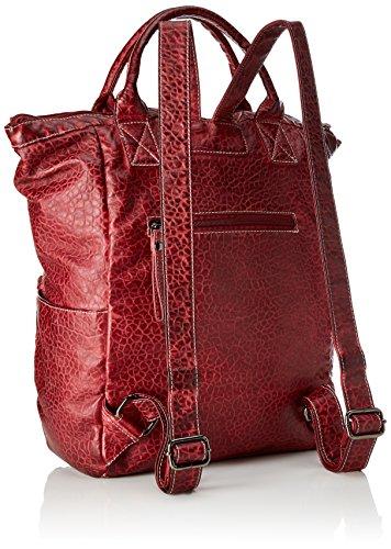Sansibar - Shopper Bag, Borse a secchiello Donna Rosso (Dark Red)