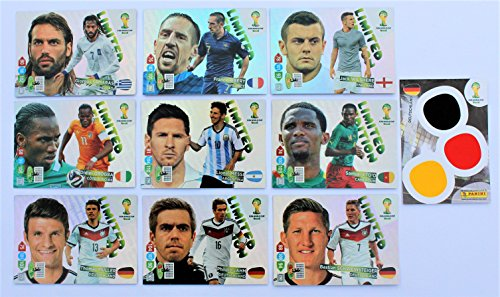 Panini Adrenalyn World Cup 2014 - Set 10 x Karte Limited Edition (Limited Edition Wm-karten)