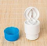 DinRoll 2 in 1 Runde Pillenschneider Pulver Mahlen Medizin Zerkleinerer Medizin Splitter