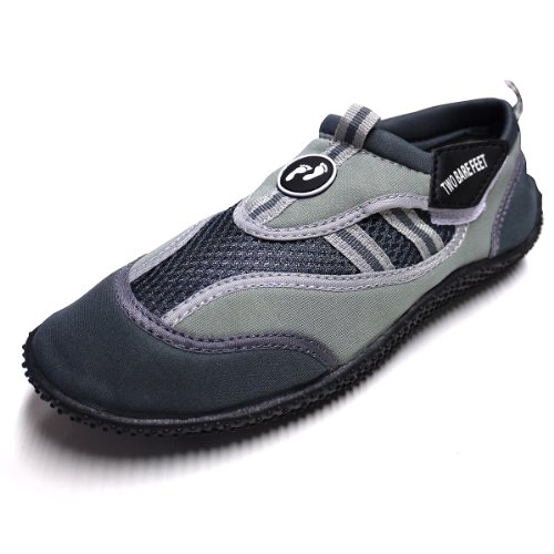 Aqua Water Wet Shoes - Unisex Adults Neoprene Footwear (Black/Grey, UK 6)