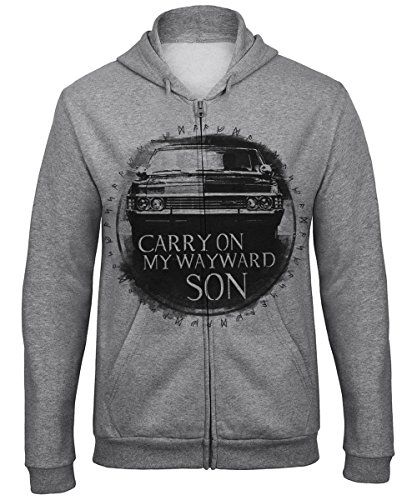 clothinx Sweatshirt Unisex Carry On Wayward Son Grau Gr. XL (Supernatural Deans Jacke)